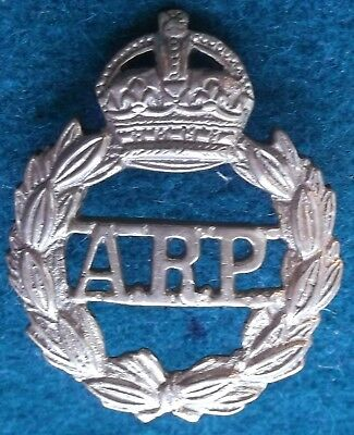 Cap Badge Home Front Arp Cast Brass Possibly Malaya