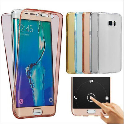 Soft TPU 360 Degree Full Cover Silicone Case for Samsung Galaxy Phone Shell Skin