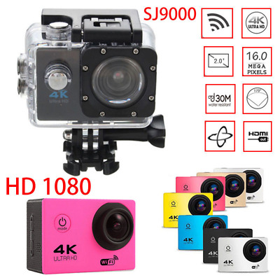 Ultra 4K HD 1080P Waterproof 30M DVR Sports Camera WiFi Cam DV Action Camcorder
