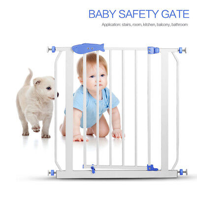North States Easy Close 30 to 33.6 Inch Metal Baby Child Pet Safety Gate, White