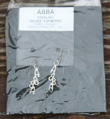 ABBA - 5 pairs of Original, vintage 1970s Sterling Silver Ear Rings