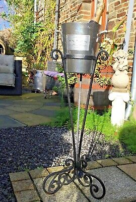 WROUGHT IRON Champagne Bucket Stand WITH ROTHSCHILD ICE Bucket Holder Stand