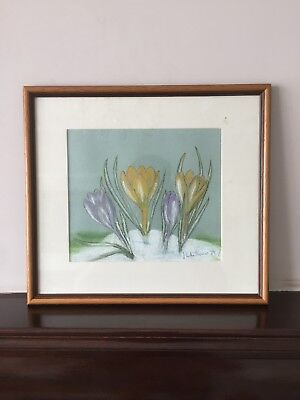 Original Pastel Drawing Flowers Still Life Joy Luther Thomas Artwork Painting