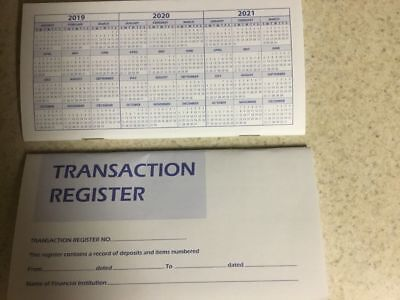 3 Checkbook Transaction Registers  Calendar 2019 2020 2021 Check Book Register