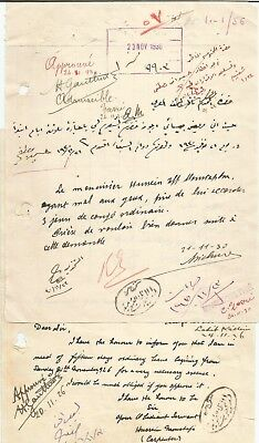 EGYPT ÄGYPTEN 1926-30 2 LETTERS SIGNED France Henri Gauthier LOT 2