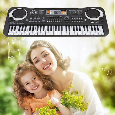 61 Keys Digital Music Electronic Keyboard Board Toy Gift Electric Piano TH