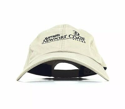 Marriott Newport Coast Villas Embroidered Baseball Cap Hat Adj Men's Size Cotton
