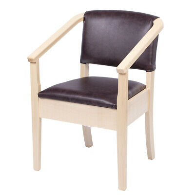 Luxury Beech Wooden Commode Chair