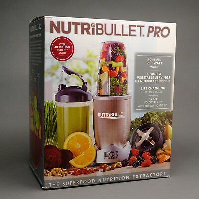 NutriBullet.Pro 900 Nutrition Extractor Blender 9 Piece Set With Travel Cup NEW