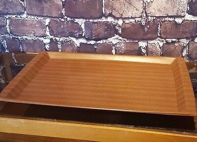 Vintage Retro Modernist Mid Century Large Wooden Mallod Serving Tray Tea Coffee