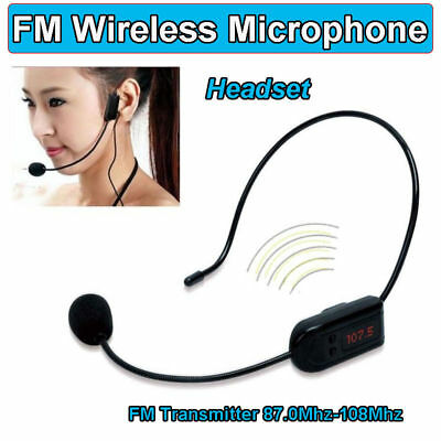 25W Voice Booster PA Amplifier+Remote Control+FM Wireless Microphone For Coaches
