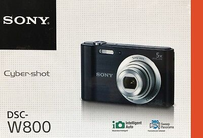 New! - Sony Cyber-shot DSC-W800 20.1 MP Digital Camera (Black) - DSC-W800/BC