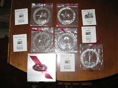 Fischer Pewter Wreath Ornaments of Richmond Capital