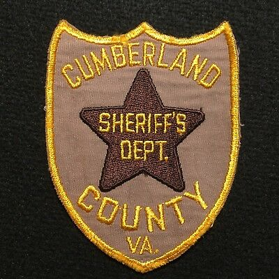 Virginia - Cumberland County VA Sheriff's Department Patch / CHEESECLOTH BACKING