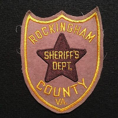 Virginia Rockingham County VA Sheriff's Department Patch FELT PATCH CHEESECLOTH