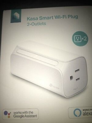 BRAND NEW Kasa Smart Wi-Fi Plug, 2-Outlets by TP-Link - Dual Outlet