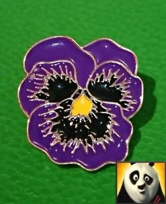 Purple Flower Poppy Lapel Pin Badge Remembering the Animals at War Horse Dog