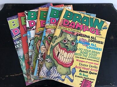 Volume 1 - Issues 1 to 6 - Brain Damage Comics Satirical Adult Comedy Parody
