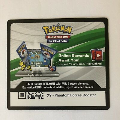 x4 Unused Pokemon TCG Online Card Codes: XY Phantom Forces Booster Pack