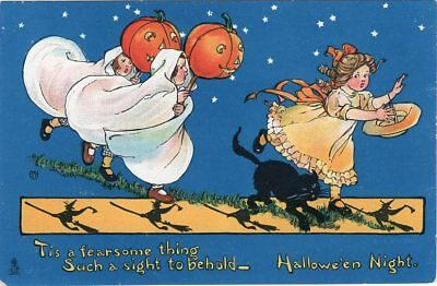 """Tuck Raphael & Sons Halloween Postcard, Series 197, """"tis A Fearsome Thing..."""""""