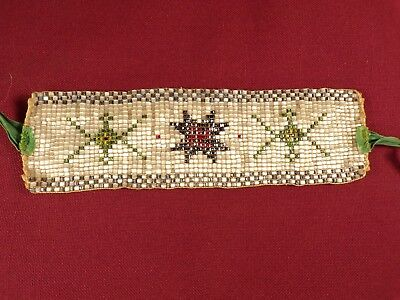 Old Antique Native American Indian Beaded Arm Band