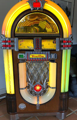 Wurlitzer ONE MORE TIME 1015 NOSTALGIA  commercial CD bubbler  jukebox AWESOME