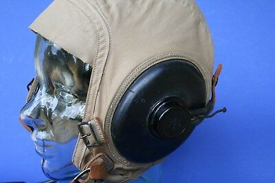 Wwii Slote & Klein Flying Cap Summer W/headset Included, Excellent Condition