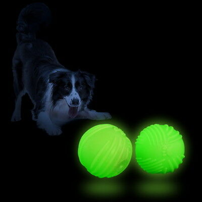 US 2PCS GLOW In the Dark Ball Light Play Fetch Ball Dogs Large Rechargeable Toys