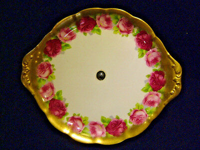 Royal Albert Art Deco Tazza - Old English Roses Pattern Solid Gold Border
