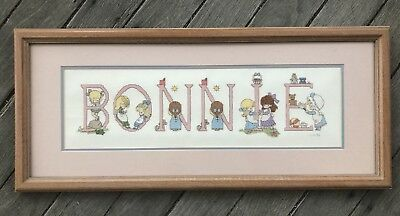 Cross stitched Framed Name, 'Bonnie'