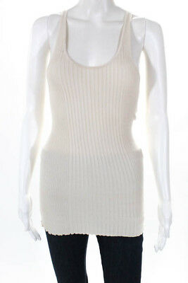 86a125f4ea0230 Robert Rodriguez Womens Top Size Small Beige Silk Blend Ribbed Tank Top