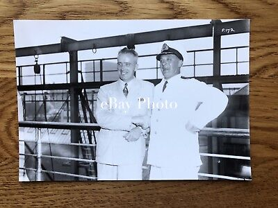 RMS Queen Mary Photo of Commodore Irving 1938 / Cunard White Star