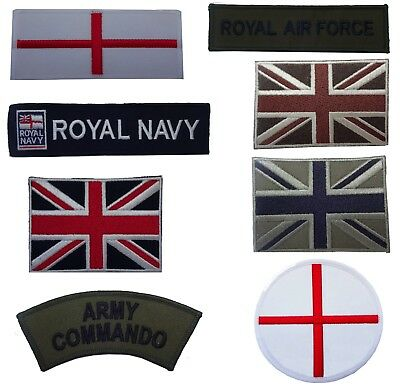 Military style Embroidered Iron On Sew On Patches Badges Transfers Fancy Dress