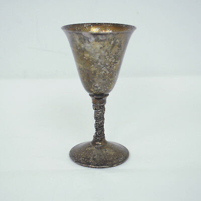 VTG FB Rogers Silverplate Chalice Goblet Made in Italy Patina