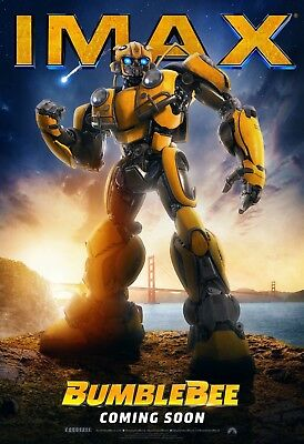 "BumbleBee Poster Travis Knight 2018 Transformers IMAX Movie Print 24x36"" 27x40"""