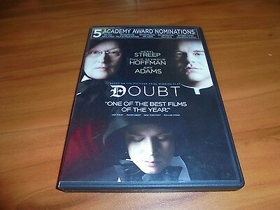 Doubt (DVD, 2009, Widescreen) Amy Adams Meryl Streep Philip Seymour Hoffman Used