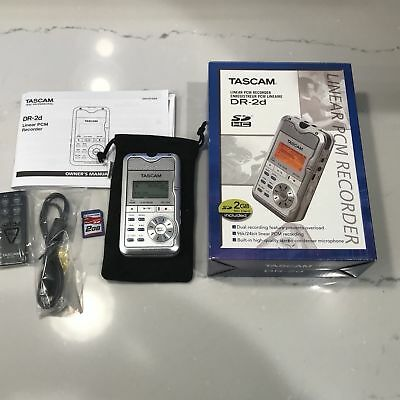 Tascam DR-2d Portable Stereo Solid State Digital Recorder - Ltd. Edition White !