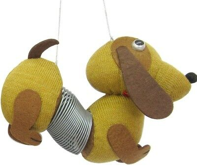 Brown Slinky Dog Dachshund Doxie Sausage Dog Holiday Christmas Tree Ornament