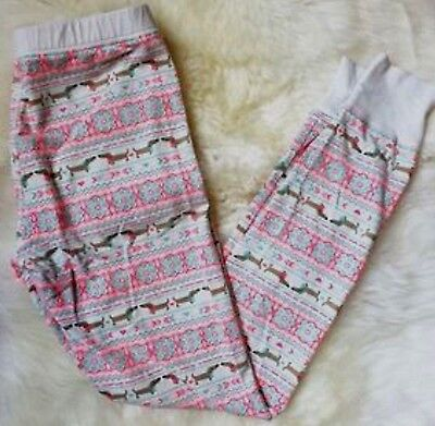 Size Small -  Dachshund Sausage Dog Sleep Leggings Lounge PJ Pajama Sleep Pants