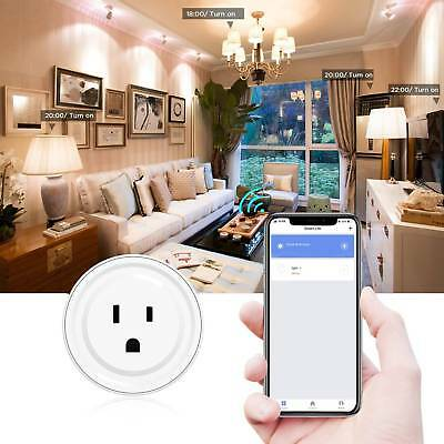 4x NEW Wifi Smart Remote Control Outlet Socket Plug Works with Alexa&Google Home