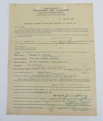 Medal Of Honor Application Theodore Stark Wilkinson And More