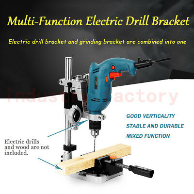 Double-head Electric Drill Press Holder Bench Grinder Bracket Table Stand Clamp