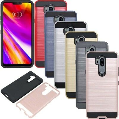 Hybrid Hard Armor Heavy Duty Case Shockproof Bumper Cover For LG G7 ThinQ