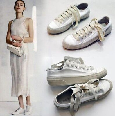 Casual Womens Fashion Lace Up Canvas New Oxfords Flats Creepers Shoes US4.5-8 SZ