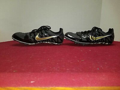 quality design f3384 8fc86 Nike Zoom Rival S Mens Size 11.5 Track Cleats Black Gold Sprint 456812-071  Shoes