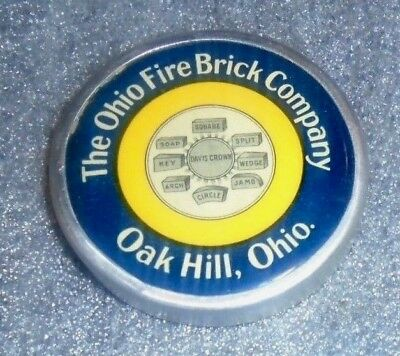 old celluloid paperweight advertising Ohio Fire Brick Co