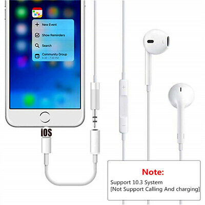 IOS Lightning To 3.5mm For iPhone 7 8 Headphone Jack Plug Aux Adapter Cable Cord