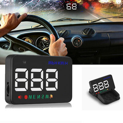 A5 GPS HUD Head Up Display Km/h MPH Digital Speedometer Speed Warning Alarm CHL