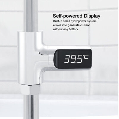 LED Digital Shower Temperature Display Water Thermometer Monitor No need Battery