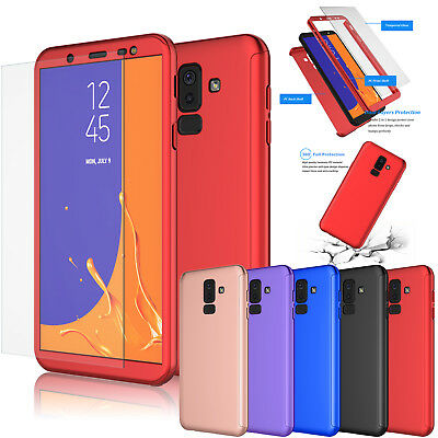 For Samsung Galaxy J8 Case 360 Full Body Hybrid Phone Cover W/ Screen Protector